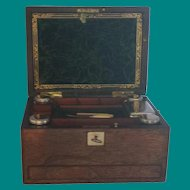 Lady's vanity box, travel box,  vanity case, antique English