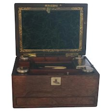 Lady's vanity box, travel box,  vanity case, antique English