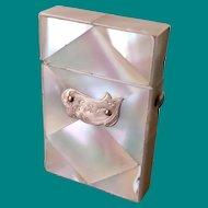 Vesta case, mother of pearl, antique
