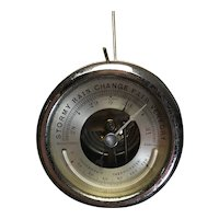 "3"" Barometer and Thermometer with visible mechanism and edge flange"