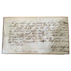 1848 Slave Document
