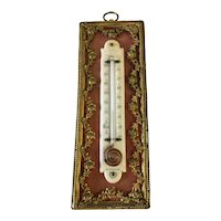 19th Century Decorative Antique Thermometer