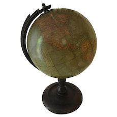 "Antique Table Globe, 8 1/2"" Diameter. c.1920"