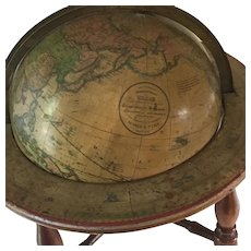 "Civil War era 19th Century Table globe, American, 4 Legs, 10"" globe Diameter, 15"" Overall"
