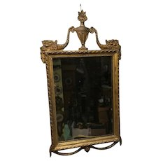 19th Century Antique gilded Mirror;  Swags, Ribbons, Urn