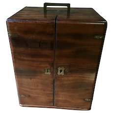 19th Century Antique Mahogany Apothecary Chest, Fully Fitted, Secret Rear Drug Compartment.