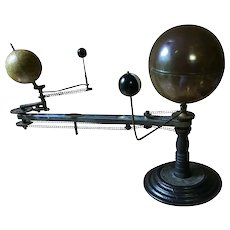 Antique Planetarium, Fully Working:  Sun, Earth, Moon, Venus.  c. 1910