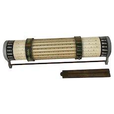 1930 cylindrical LOGA  (Thacher style) slide rule or calculator