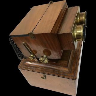 Antique Stereoscope in Walnut, c.1860