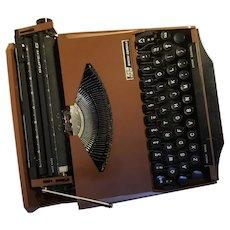 "Classic ""Ghia"" Typewriter, 1950's, Bronze color"