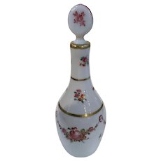 18th Century White Opal Glass Decanter