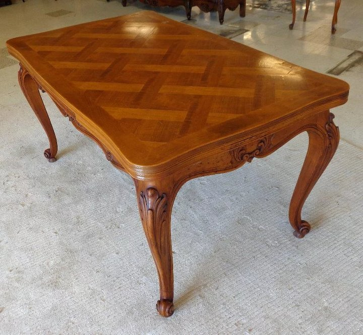 Antique French Louis XV Provencal Walnut Dining Table