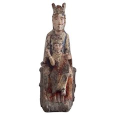 16th Century Antique French Madonna and Child Vierge a L'Enfant
