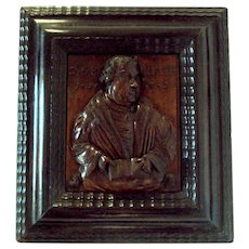 16th Century Antique German Martin Luther Tribute Panel