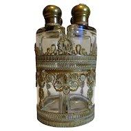 19th Century Antique French Empire Period Decanter Set Tantalus