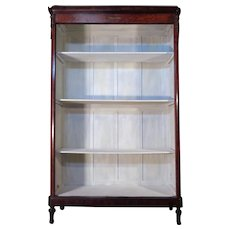 19th Century Antique French Parisian Mahogany Open Bookcase
