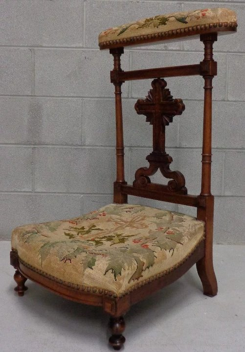 19th Century Antique French Prayer Chair - 19th Century Antique French Prayer Chair : Nicole Maleine Antiques