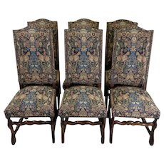 Set of 6 Antique French Os De Mouton Dining Chairs