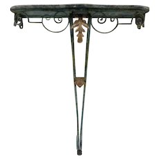 19th Century Antique French Louis XV Style Wrought Iron Console