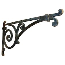 19th Century Antique Wrought Iron Lantern or Sign Holder