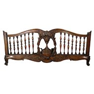 19th Century Antique French Louis XV Rococo Queen Size Bed Panel