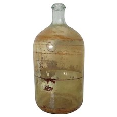 19th Century French Apothecary Glass Bottle