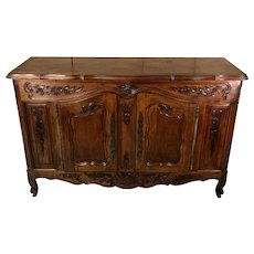 Antique French Louis XV Style Walnut Provencal Buffet