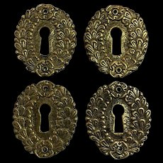 Set of 4 19th Century French Empire Period Escutcheons