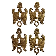 Set of 4 19th Century French Napoleon III Period Escutcheons