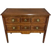 Antique French Louis XVI Style Mahogany Commode