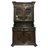 19th Century Antique French Hunt Buffet Deux Corps