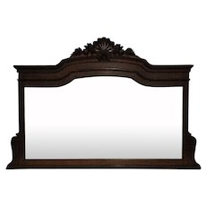 19th Century French Louis XVI Style Oak Mantel Mirror