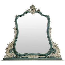 19th Century Antique French Louis XV Rococo Vanity Mirror