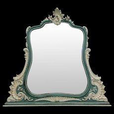 19th Century Antique French Louis XV Rococo Vanity Mirror