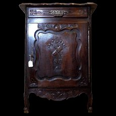19th Century Antique French Louis XV Style Oak Cabinet Confiturier