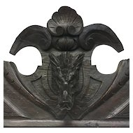 19th Century Antique Black Forest Oak Hunting Trophy Crest