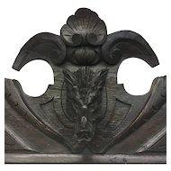 19th Century Antique Black Forest Oak Hunting Trophy Crest