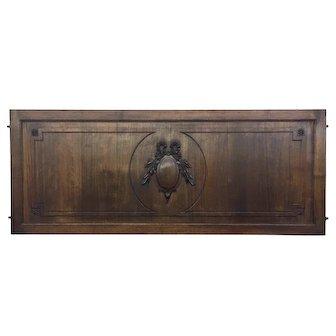 Antique French Louis XVI Style Walnut Panel