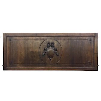 Antique French Louis XVI Style Walnut Panel