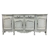 Country French Louis XV Style Provencal Buffet Enfilade
