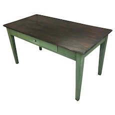 19th Century Antique French Pine Farm Table