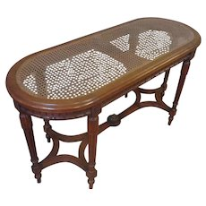 19th Century French Louis XVI Style Walnut Bench