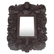 17th Century Antique Italian Baroque Period Mirror