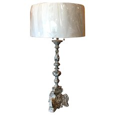 19th Century Antique French Candlestick Lamp