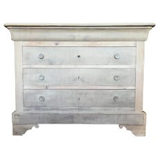 19th Century Antique French  Bleached Louis Philippe Period Commode