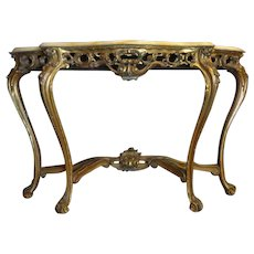 Antique French Louis XV Style Rococo Console