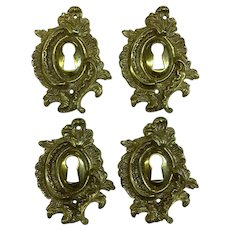 Set of 4 French Louis XV Rococo Escutcheons