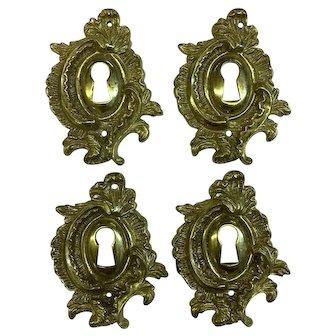 Set of 4 French Louis XV Rococo Escutcheons