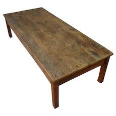 19th Century Antique French Pine Coffee Table