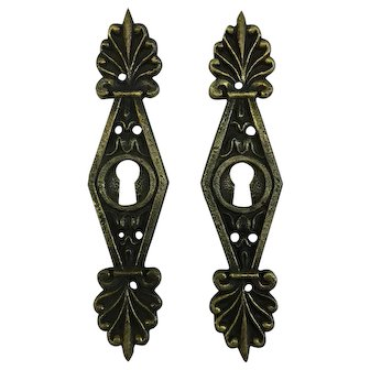 Pair of 19th Century French Empire Period Escutcheons